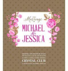 Marriage party invitation vector image