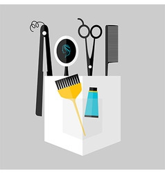 Hair stylist instruments vector