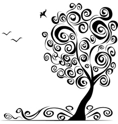 abstract background with tree vector image