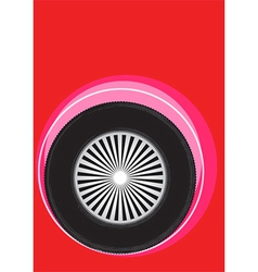 wheel poster vector image