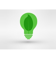 green tree growing in a bulb go green concept vector image