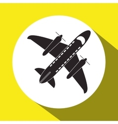 Airplane and travel icon design vector