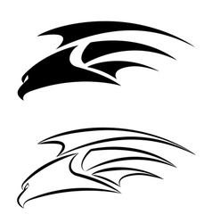 hawk set vector image