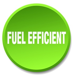 Fuel efficient green round flat isolated push vector