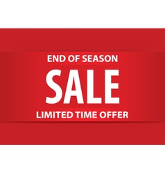 End of season sale poster with white letters vector