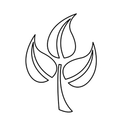 Leaves plant isolated icon design vector