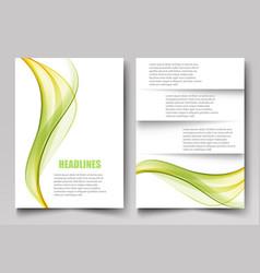 abstract template design brochuresflyersreport vector image vector image