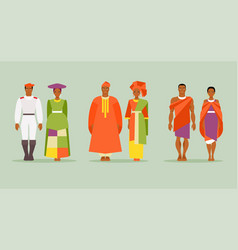 african costumes vector image vector image