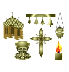 attributes of the Christian Church vector image