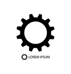 Black gearwheel on white background vector