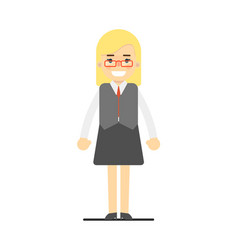 blonde office secretary in business suit vector image vector image