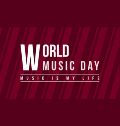Celebration of music day background style vector