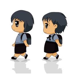 Children to school vector image vector image