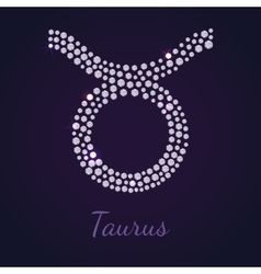Diamond zodiac taurus vector