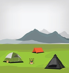 Family camping vector image