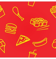 fastfoodset seamless vector image vector image