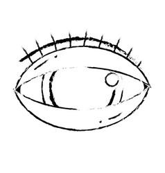 figure human eye to optical vision icon vector image vector image