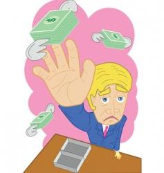 flying money vector image vector image