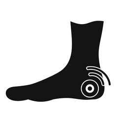 Foot heel icon simple style vector