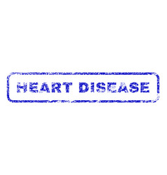 heart disease rubber stamp vector image vector image