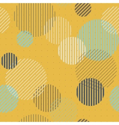 Lines and circles seamless pattern vector image