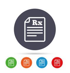 medical prescription rx sign icon pharmacy vector image