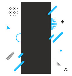 modern abstract shapes design flat elements vector image vector image