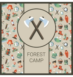 Modern flat design of camping and vector image vector image