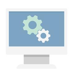 Monitor settings icon vector