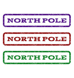 North pole watermark stamp vector
