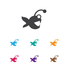 Of animal symbol on aquatic vector