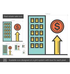 Real estate sale line icon vector