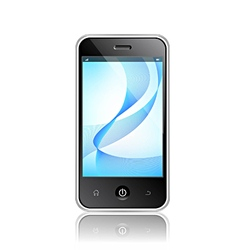 Realistic mobile phone vector image vector image