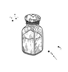 Salt shaker baking and cooking ingredient salt vector