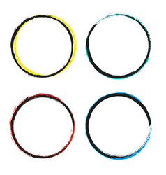 Set of grunge circles grunge round shapes vector