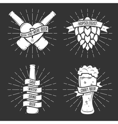 Set of t-shirt beer prints Vintage vector image vector image