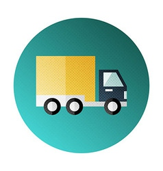 Shipping and delivery halftone circle icon vector