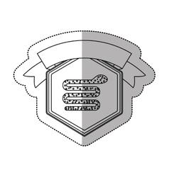 Snake of security system design vector