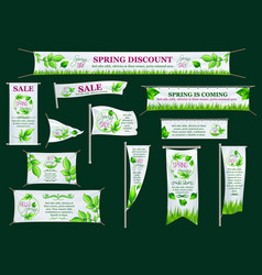 Spring sale banner poster flag template design vector