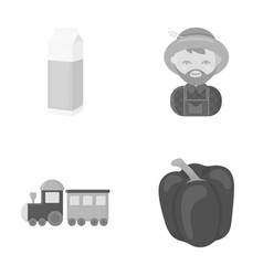 Sweet vegetables business and other web icon in vector