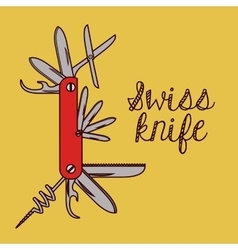 swiss army knife design vector image