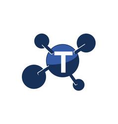 Synergy logo initial t vector