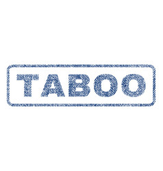 Taboo textile stamp vector