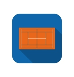 Template realistic tennis court with lines vector