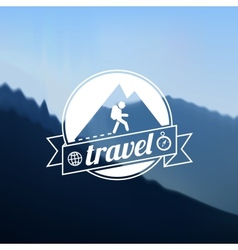 Tourism travel logo design vector