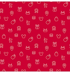 Trade sale background seamless pattern vector