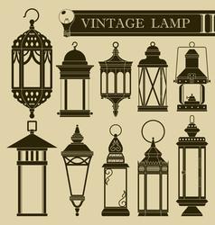 Vintage lamp ii vector