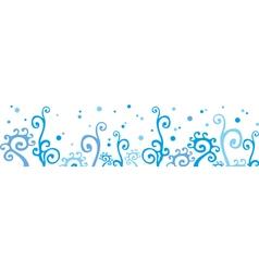 Winter border vector image
