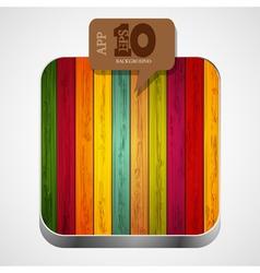 Wooden app icon vector
