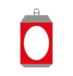 Can metal bottle icon vector